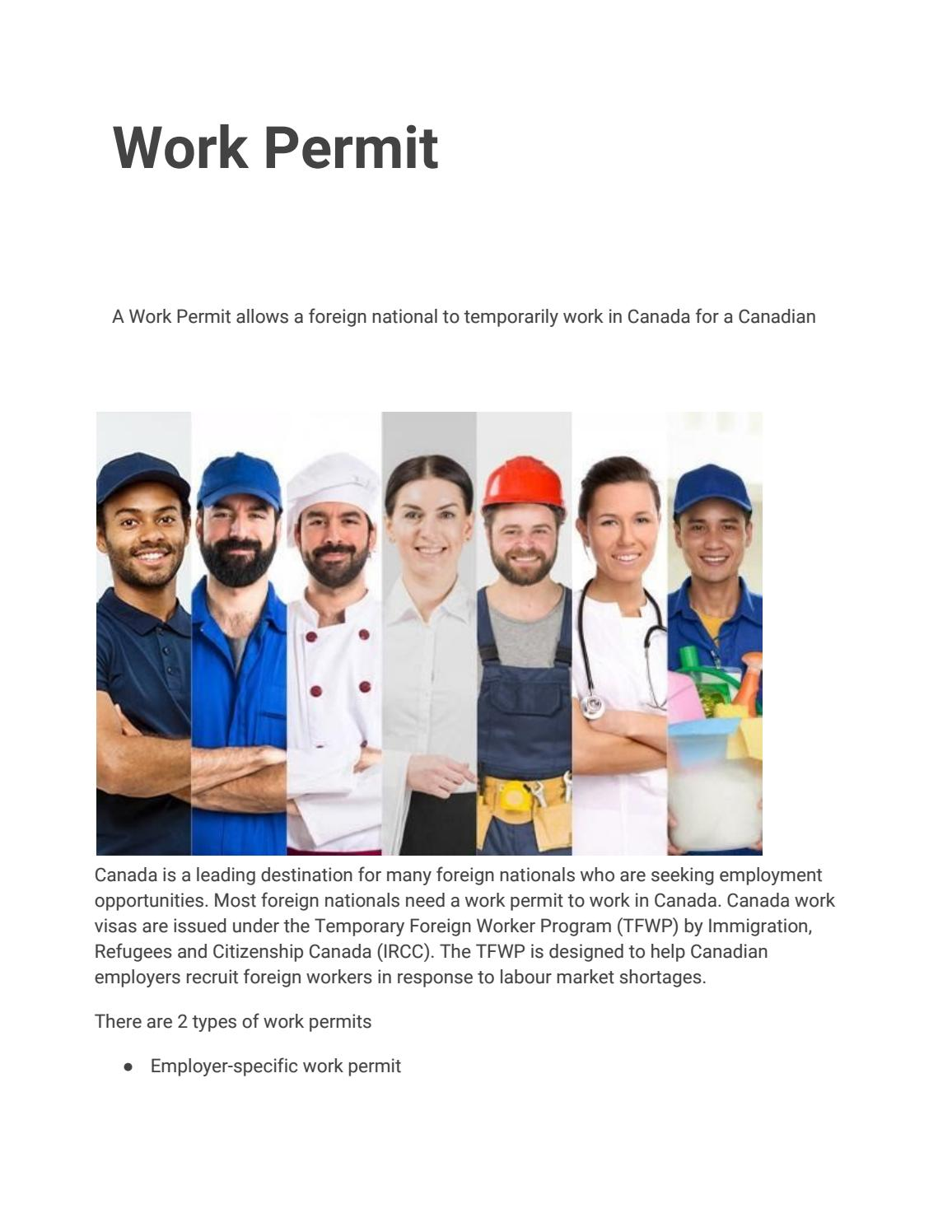How to Get Canada Work Permit